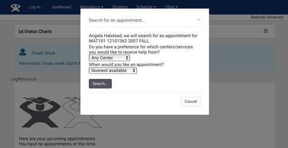 Search for Appointment Times